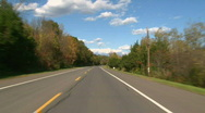 Autumn Road Driving Leaves 05 Stock Footage