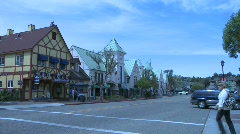 Cars passing by in Solvage, California 01 - stock footage