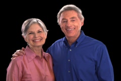 Older Couple Smiling - stock footage