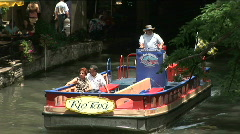 Stock Video Footage of Riverwalk boat couple