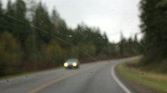 rain on windshield - stock footage