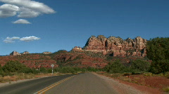 Red Rock Sedona Driving 01 Stock Footage