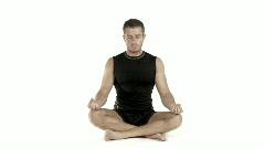 Yoga Meditating Stock Footage