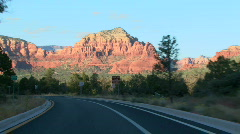 Red Rock Sedona Driving 08 Stock Footage