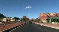 Sedona Drive Thru Stock Footage