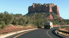 Dirt Movers in Red Rock Sedona 01 Stock Footage