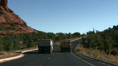 Dirt Movers in Red Rock Sedona 02 Stock Footage