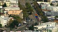 Rainbow Flag Zoom San Francisco The Castro 03 Stock Footage