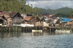 Coastal Village in Philippines Stock Footage