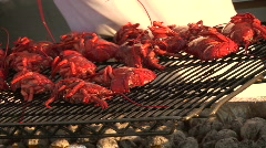 Lobster Grill - stock footage