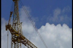 Highest crane - stock footage