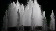 Stock Video Footage of Night fountain