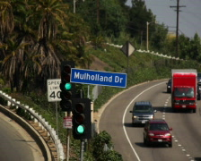 Mulholland Dr Sign 01 PAL Stock Footage