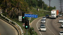 Mullholland Dr Sign 02 HD Stock Footage