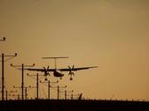 Plane Landing 01 NTSC Stock Footage