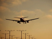 Plane Landing 03 NTSC Stock Footage