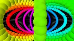 Smashed Rainbow Cyclotron HD Stock Footage