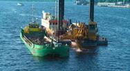HD 1080 - Aqua excavator Stock Footage