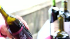 Public Wine Show  Stock Footage