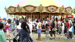 Carnival Merry Go Round - stock footage