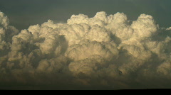 Amazing Cumulus Clouds at Base of Supercell Time Lapse Stock Footage