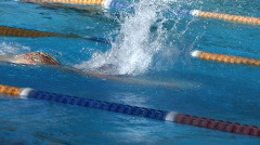 Swimming Training - stock footage