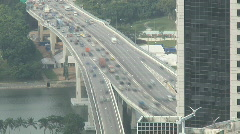 TimeLapse Highway Peak Hour Traffic, Singapore Stock Footage