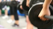 Fitness Weight Lifting Stock Footage