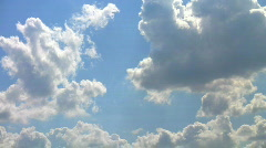 Heaven - Clouds and blue sky. Time lapse - stock footage