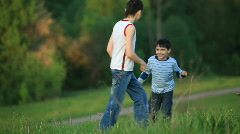 Children play. Run. Stock Footage