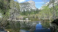 Mirror Lake - Yosemite Nat'l Park - stock footage
