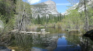 Stock Video Footage of Mirror Lake - Yosemite Nat'l Park