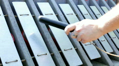Playing Musical Instrument at Park Stock Footage