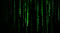 Stock Video Footage of Matrix Binary Rain
