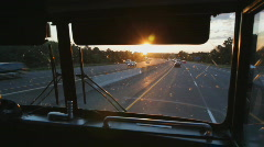 Busride. Sunset. Stock Footage