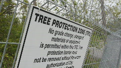 Tree protection zone. Stock Footage