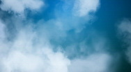Clouds over Blue Sky Loop Stock Footage