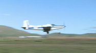 Stock Video Footage of cropduster liftoff from farm runway