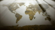 Rusty World Map Stock Footage