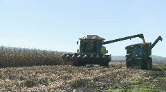 Fast corn harvest unload time lapse Stock Footage