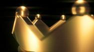 T195 golden crown circle loop looping Stock Footage