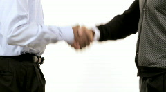 African Business Men Shake Hands Stock Footage