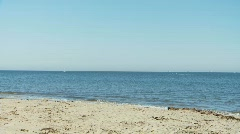 Beach, Waves, Sailboats 02 Stock Footage