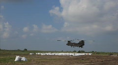 National Guard picks up sand bags to block BP Gulf of Mexico oil spill_29 Stock Footage