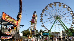 Carnival Fair Rides Amusement Park Stock Footage