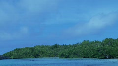 Galapagos zoom out bay  Stock Footage