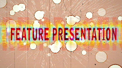 T195 feature presentation retro 1970s 1960s Stock Footage