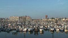 Blankenberge - Belgium - Harbor Stock Footage