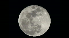 Full Moon on a clear night shot from high altitude Stock Footage