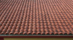 Roofing Tile Construction Stock Footage